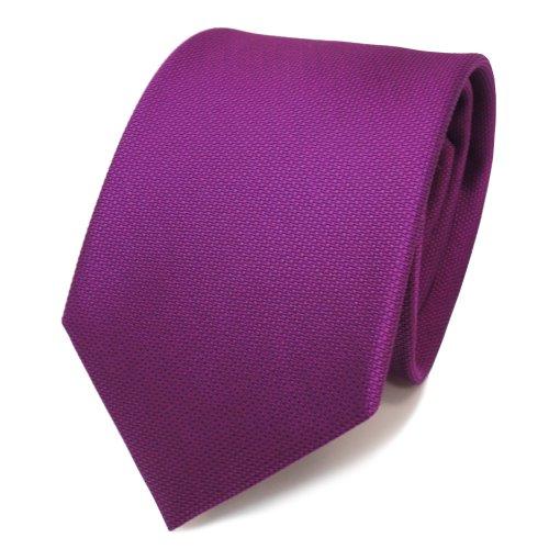 TigerTie Designer cravate en soie lila violet purpur à pois - cravate en soie tie
