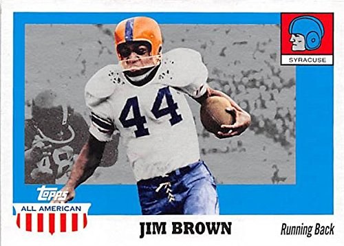 - Jim Brown football card (Syracuse University Orange) 2005 Topps All American #25