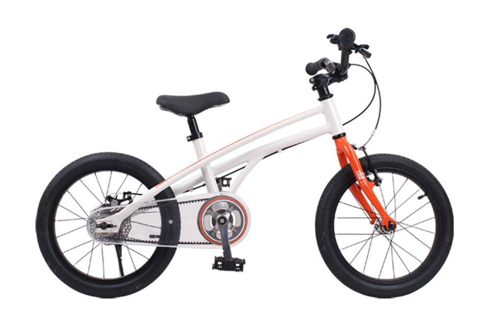 ROYALBABY(ロイヤルベイビー) 子ども(幼児向け)自転車 オレンジ [メーカー保証1年] 後輪ディスクブレーキ/ベルトドライブALLOY B07821CZK9 14インチ