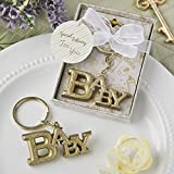 62 Luxurious Gold Baby Themed Key Chains from Fashioncraft