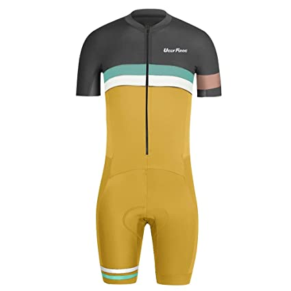 Image Unavailable. Image not available for. Color  Uglyfrog Bike Wear Mens  Triathlon Suit Short Sleeve Jersey+Short ... a3313a496