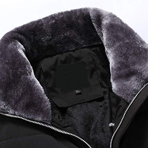 Spessore Inverno Di Autunno Moika Uomo Collo E Caldo Nero Cotone Cappotto Alto qzxSxfYw