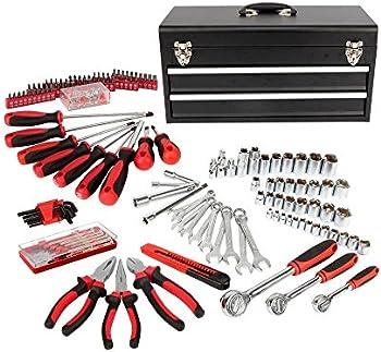 HyperTough 233-Pc. 2-Drawer Tool Box Kit