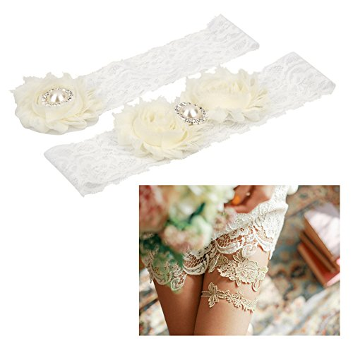 - Wedding Accessories - A Pair Vintage Lace Bridal Garter Wedding Amp Engagement Decoration - Dogs Bridesmaid Groom Bride Garter Bridesmaids Pearl Book Maid Jewelry