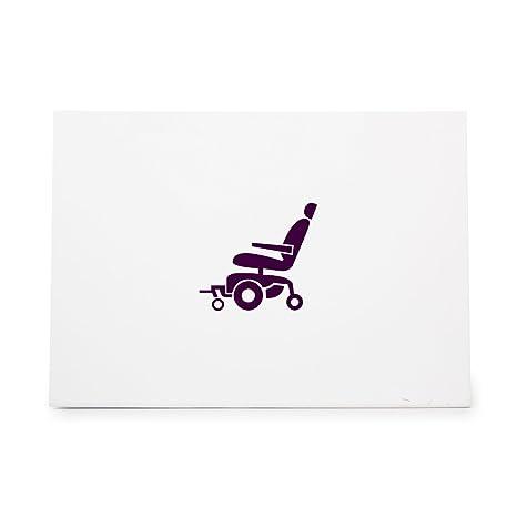 Scooter automático silla de ruedas discapacidad estilo 19042, sello de goma forma ideal para Scrapbooking
