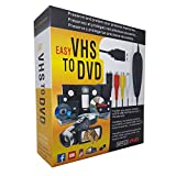 VHS VCR to Digital DVD Converter Adapter for Windows 10 Vista XP, REDGO USB Video Audio TV Capture Card Grabber Recorder Transfer Old Tapes V8 Hi8 TV DVD VCR DVR Camcorders Gamebox X360 PS Wii to DVD