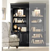 Hooker Furniture Telluride Bunching Bookcase with Doors in Black