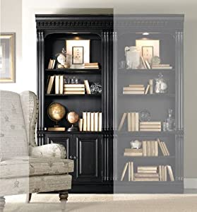 hooker furniture telluride bunching bookcase with doors in black kitchen dining. Black Bedroom Furniture Sets. Home Design Ideas