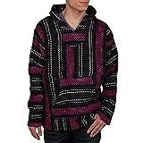 Baja Joe -Fuchsia Stripe Woven Baja Hoodie