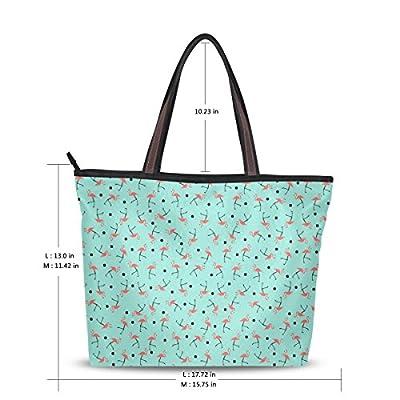 beae7470371a 70%OFF INGBAGS Fashion Large Tote Shoulder Bag Flamingo Pattern Women  Ladies Handbag