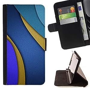 For Samsung Galaxy J3(2016) J320F J320P J320M J320Y Case , Líneas Azul púrpura del extracto del oro- la tarjeta de Crédito Slots PU Funda de cuero Monedero caso cubierta de piel