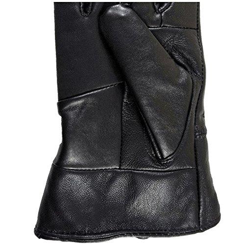 TrueOne Men Gloves Genuine Leather Gloves Sheepskin Gloves Windproof Classic Black Leather Gloves light Soft Thermal Gloves Black Gloves