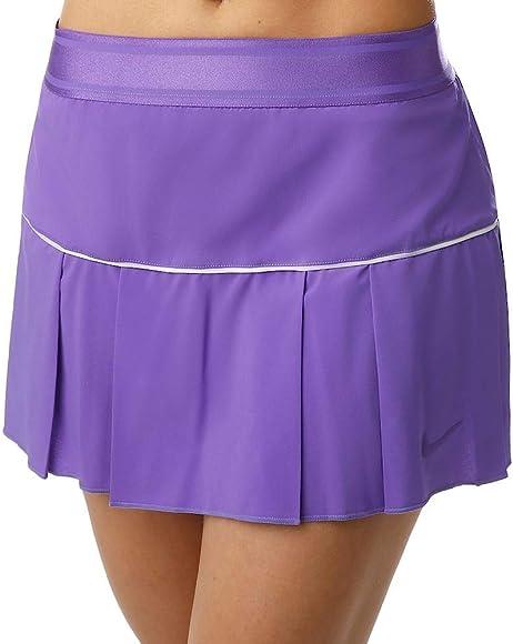 Nike W Nkct Victory Skirt Falda, Mujer, White/Psychic Purple, M ...