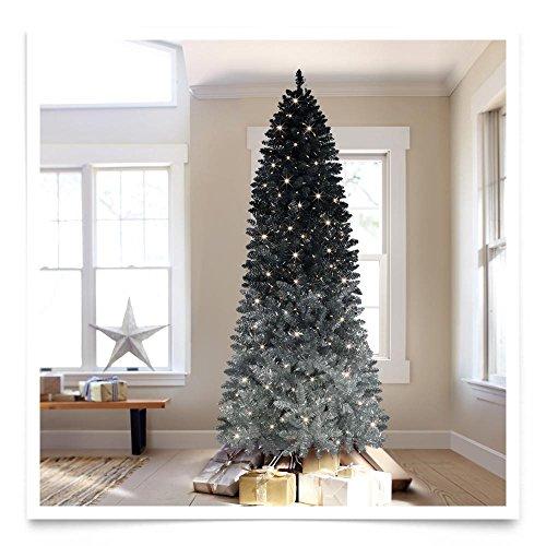 Treetopia Silver Shadow Ombre Artificial Christmas Tree, ...