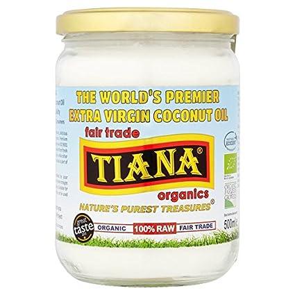 TIANA Feria Extra Ecológico 500ml Aceite de Coco Virgen