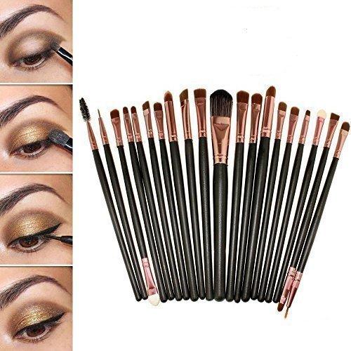Sunnicy® 20 Stück Make Up Pinselset Makeup Bürsten Foundation Lidschatten Eyeliner Mascara Lippen Make-up Pinsel Kosmetik Set mit eine Rosa Tasche