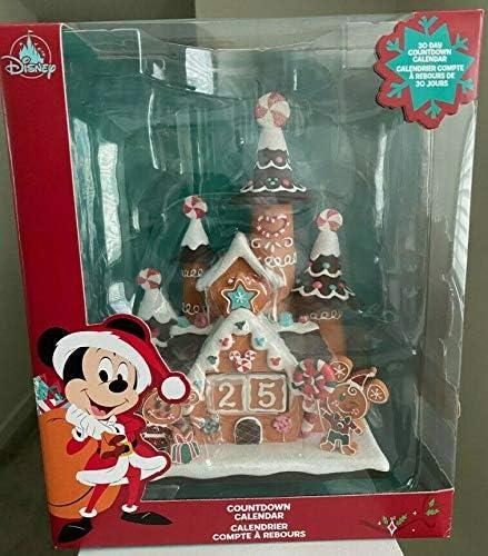 Disney Parks Mickey and Minnie Christmas Countdown Calendar Castle BRAND NEW