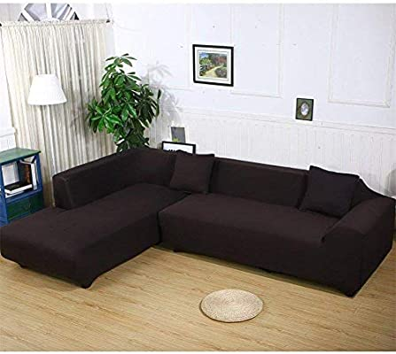 Miraculous Womaco Sectional Couch Covers L Shape Sofa Cover Slipcover 2 Pcs Stretch Slipcover For 2 Piece Sectional Sofa Coffee Andrewgaddart Wooden Chair Designs For Living Room Andrewgaddartcom