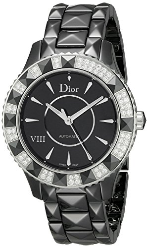 Christian Dior Women's CD1245E1C001 Black Eight Analog Display Swiss Automatic Black - Watches Dior Ladies Black