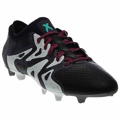 adidas Men's X 15+ Primeknit FG/AG Black/Shock Mint/White Sneaker
