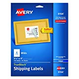 "Avery  Shipping Labels with TrueBlock Technology for Inkjet Printers 3-1/3"" x 4"", Pack of 150 (8164)"