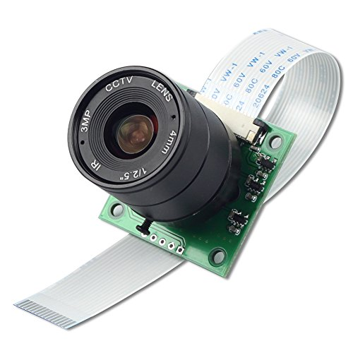 Arducam 5 Megapixels 1080p OV5647 Camera Module with CS Mount Lens for Raspberry Pi Model A/B/B+, Pi 2 and Raspberry Pi 3