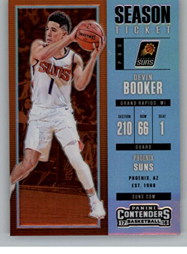 2017-18 Panini Contenders Season Ticket Premium Edition Prizm #96 Devin Booker Suns Basketball Card