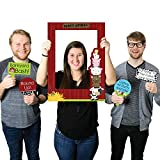 Big Dot of Happiness Farm Animals - Birthday Party or Baby Shower Selfie Photo Booth Picture Frame & Props - Printed on Sturdy Material