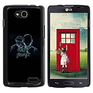 LECELL -- Funda protectora / Cubierta / Piel For LG OPTIMUS L90 / D415 -- Daft Band --