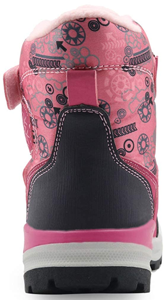 VECJUNIA Boys Girls Snow Boots Athletic Nonslip Winter Shoes for Hiking Toddler//Little Kid