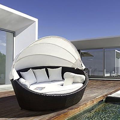 LuxuryGarden - Sofá de ratán para exteriores: Amazon.es: Jardín