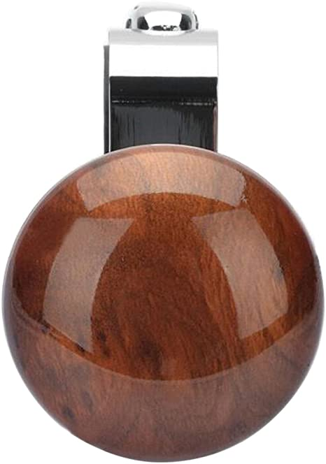 Farbe Holz Fischerei vorcool Knopf Lenkrad aus Metall Griff Lenkrad f/ür Fahrzeug Auto