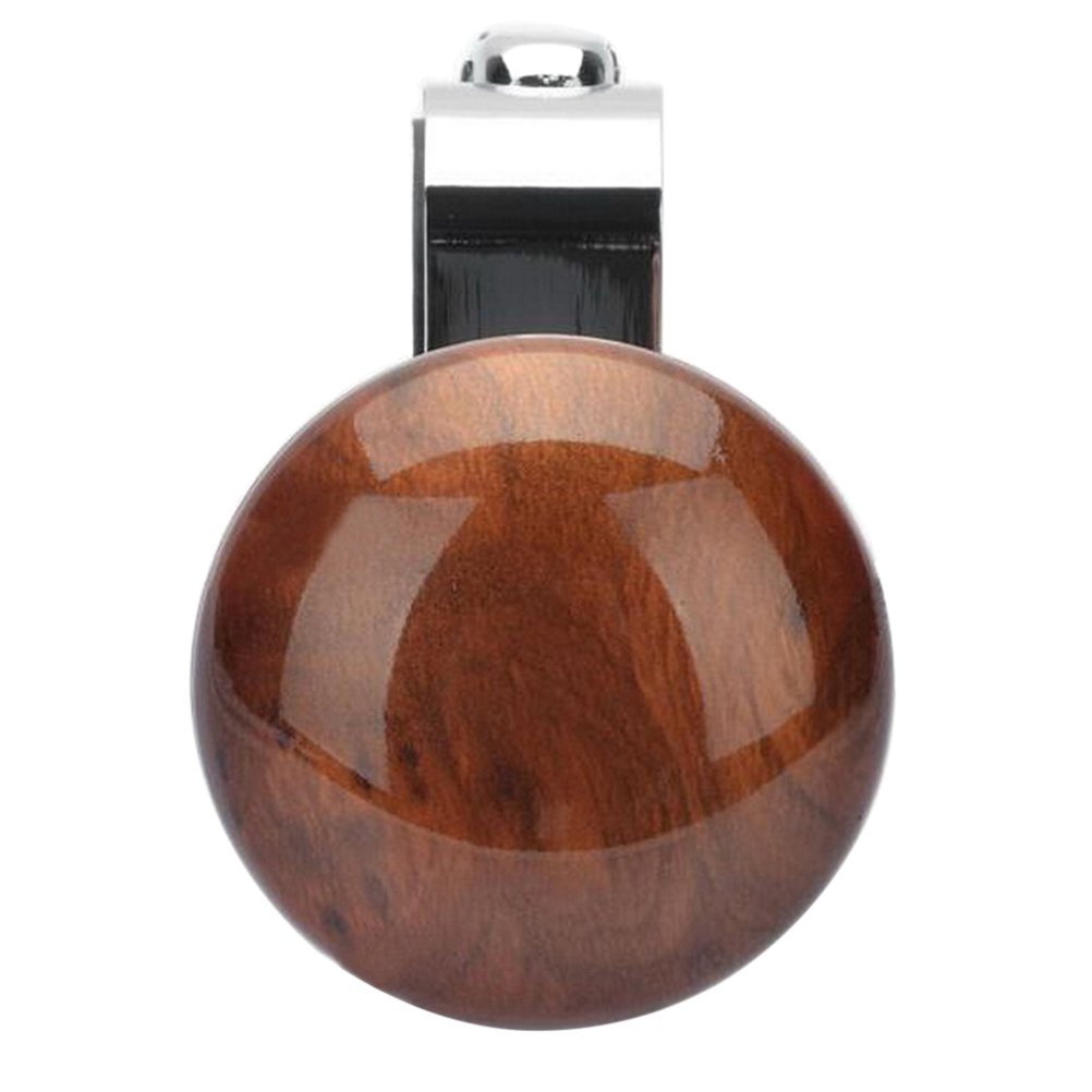 VORCOOL Metal Steering Wheel Assistive Ball Power Booster Ball Spinner Peach Wood Color