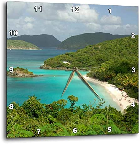 3dRose dpp_70005_1 Usvi, St. John, Trunk Bay, Virgin Islands Np-Ca37 Cmi0147-Cindy Miller Hopkins-Wall Clock, 10 by 10-Inch