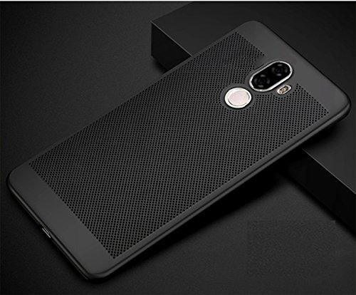 Funda Xiaomi Mi 5S Plus,Alta Calidad Ultra Slim Anti-Rasguño y Resistente Huellas Dactilares Totalmente Protectora Caso de Plástico Duro Case,Cuadrícula Disipación de calor Antideslizante Cover A