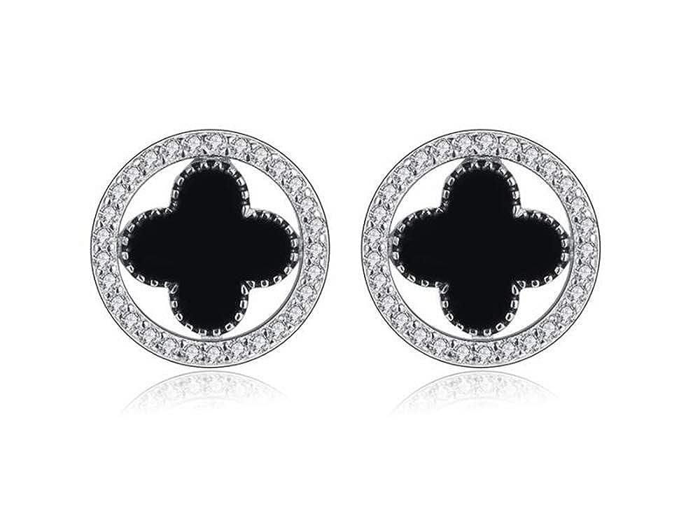 Woman Simple Round Pattern Silver Stud Earrings Ear Hypoallergenic Earrings