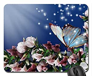 Blue Flutter in the Spring Mouse Pad, Mousepad (Butterflies Mouse Pad)