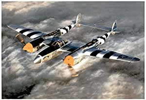 M F Winter Lockheed P-38 Lightning WWII Photo Print Poster 19 x 13in with Poster Hanger