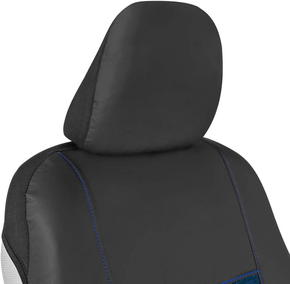 Universal Fit for Auto Truck Van and SUV Faux Leather Protector with Cooling Gel Pads Reduces Heat and Prespiration Model Number: M352 Motor Trend Chill Drive Car Seat Cover for Front Seat