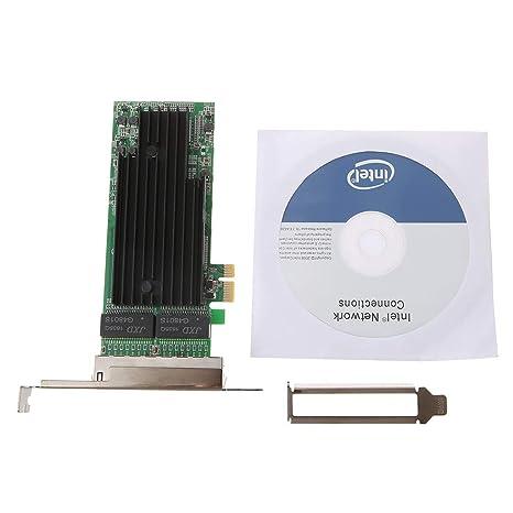 NAOTAI Nii 4 Puertos RJ45 Gigabit Ethernet PCI-Express X14 ...