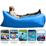 Inflatable Lounger With Travel Bag, Perfect for Indoor or Outdoor Hangout (BABY BLUE)