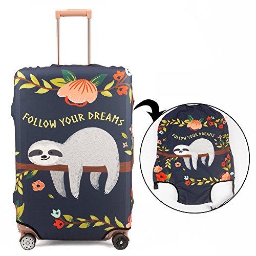 Madifennina Spandex Travel Luggage Protector Suitcase Cover Fit 23-32 Inch Luggage (sloth, XL) by Madifennina (Image #2)