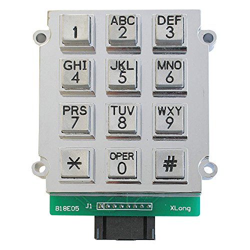 Steel Keypad, Stainless Steel; For Industrial Telephones - GAI-Tronics 51035-005A