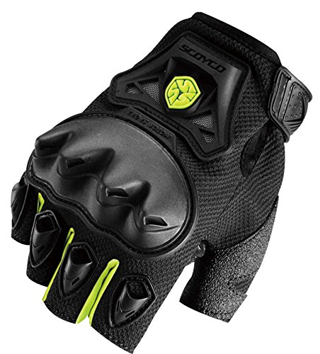 Scoyco Men's Half Finger Motorcross racing gloves,Safety Outdoors Exercise Wear-Resistant Glove