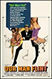 Our Man Flint Fridge Magnet 6x8 James Coburn Movie Poster Magnetic Canvas Print