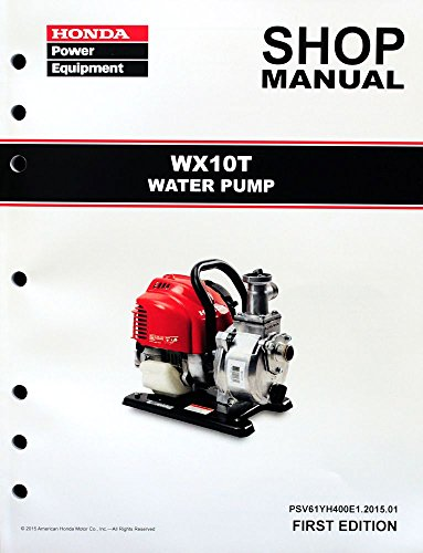 Honda WX10 T Pump Service Repair Shop Manual