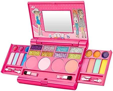 Lanbowo Girl Maquillaje Set Juguetes Sombra de Ojos Brillo de Labios Coloretes Princesa Cosmético Kit para Niñas: Amazon.es: Hogar