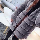 CHIDY Women Winter Solid Faux Fur Fluffy Soft Open