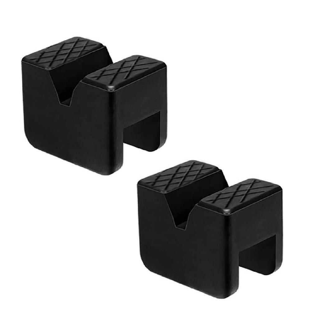 Jack Stand Pad Rubber Slotted Frame Rail Pinch Welds Protector Car Jack Puck Pads DEDC 2 Pack Universal Jack Pad Adapter