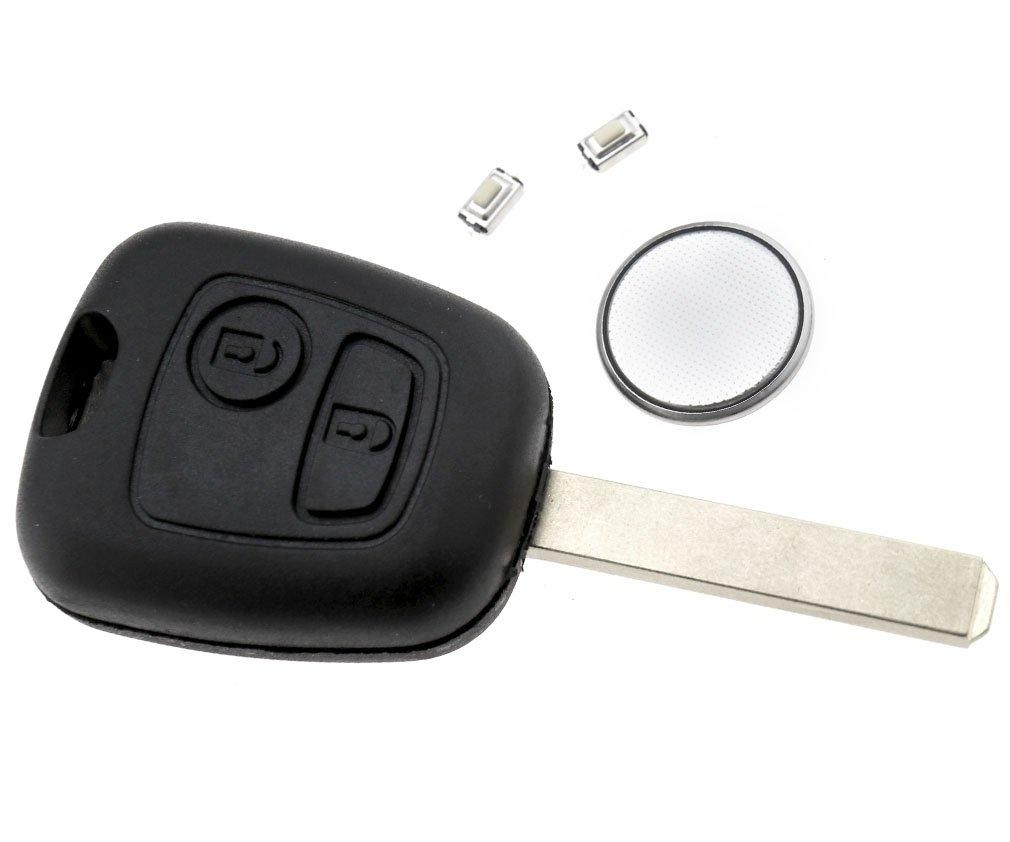 Citroen Coque de cl/é t/él/écommande clip /à 2 boutons pour Totota Aygo//Peugeot
